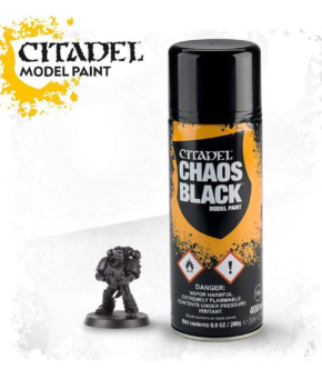 Citadel Paint - citadel spray CHAOS BLACK SPRAY