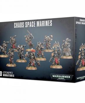 Warhammer 40.000 Chaos Space Marine Squad - verzamelfiguur