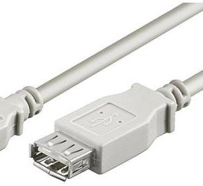M-Cab USB 2.0 Extension kabel 2m - wit
