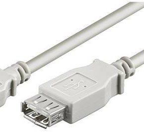 M-Cab USB 2.0 Extension kabel 2m - wit