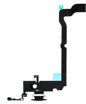 Voor Apple iPhone Xs Max dock-connector flexkabel - zwart