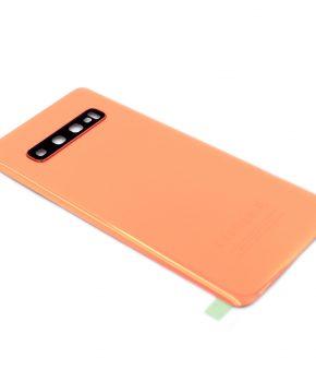 Voor Samsung Galaxy S10 Plus achterkant - batterij cover - oranje