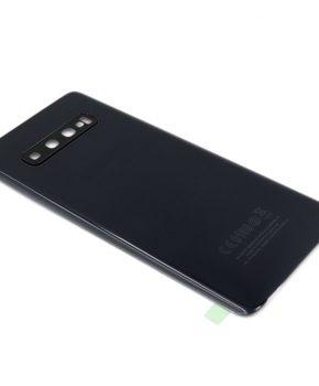 Voor Samsung Galaxy S10 Plus achterkant - batterij cover - zwart