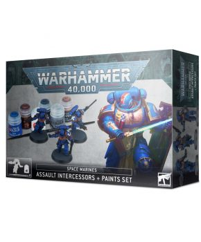 Warhammer 40 K - Space Marines: Assault Intercessors + Paints Set