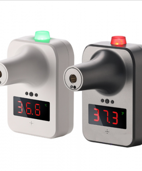 Thermische deur thermometer met koorts alarm - wandbevestiging