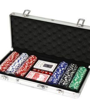 300 pokerchips met aluminium koffer (11,5 gram, chips)