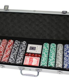 500 pokerchips met aluminium koffer (11,5 gram, chips)