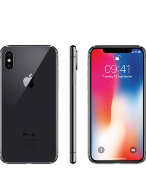 Refurbished iPhone X 64GB Space gray  - als nieuw + speck hoesje