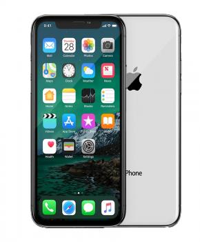 Refurbished iPhone X 256GB zilver - als nieuw + speck hoesje