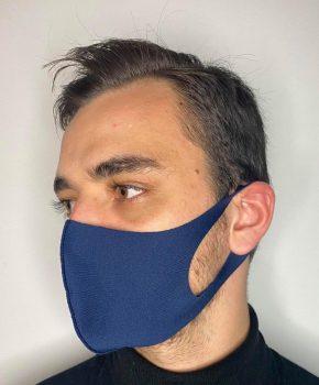 Ice Silk mondmasker - wasbaar - elastisch - klasse A - blauw
