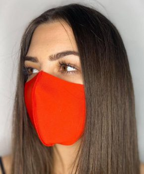 Ice Silk mondmasker - wasbaar - elastisch - klasse A - oranje