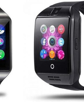 Q18 Android OS Smartwatch - zwart - Met Veel Handige Applicaties