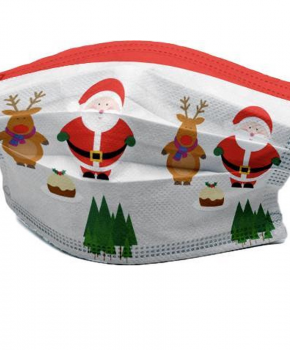 3 laags mondmasker - wegwerp - kerst - santa en rudolf - 10 stuks