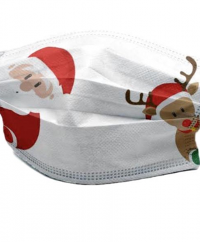 3 laags mondmasker - wegwerp - kerst - santa - 10 stuks
