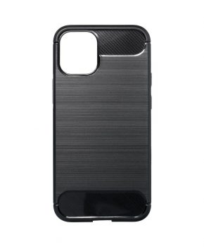 Forcell CARBON Case voor IPHONE 12 / 12 PRO - zwart