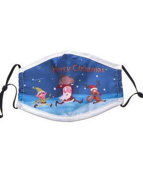 kerst mondkapje met lussen wasbaar katoen - model 4