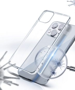 Forcell antibacteriële case voor IPHONE 12 MINI - transparant