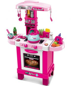 Mykitchen - Kinderkeuken 32 elementen roze - 64x29x87cm