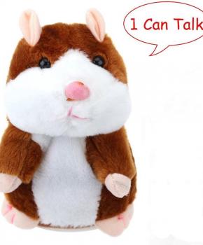 Pratende hamster - knuffel - educatie - 15 CM - licht bruin