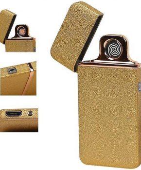 Elektrisch oplaadbare aansteker Goud - met usb kabel