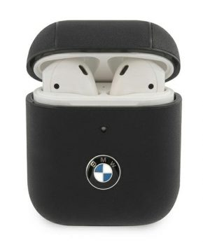 BMW  AirPods 1 /2 case  zwart echt leder-  Signature