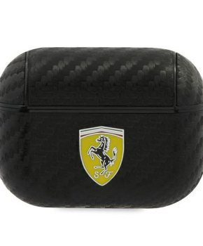Ferrari FESAPCABK AirPods Pro hoes  zwart - On Track- PU Carbon