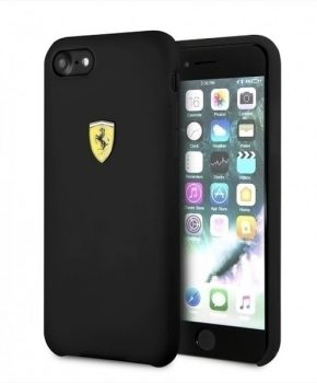 Ferrari SF Silicone Hard Case - Apple iPhone 7/8/SE (2020) - zwart