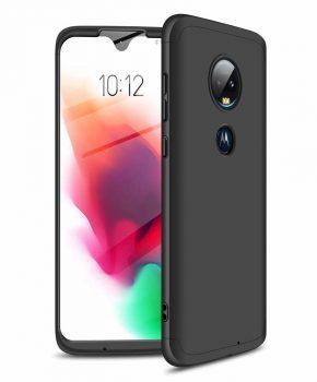 360 graden full body hoesje voor Motorola Moto G7 - zwart