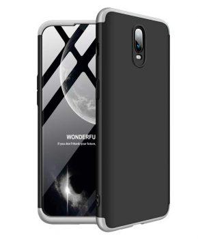 360 graden full body hoesje voor OnePlus 6T - zwart / zilver