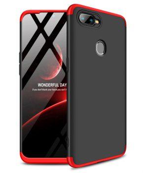 360 graden full body case voor de Oppo AX7 - zwart / rood