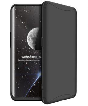 360 graden full body case voor de Oppo Find X - zwart