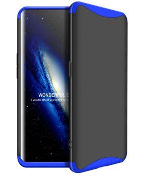 360 graden full body case voor de Oppo Find X - zwart / blauw