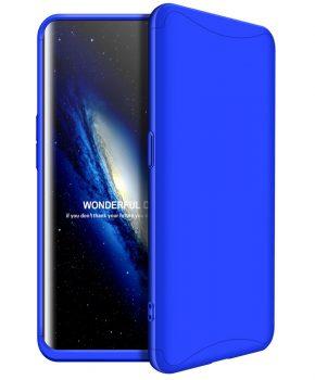 360 graden full body case voor de Oppo Find X - blauw