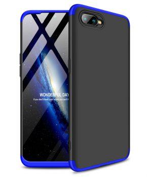 360 graden full body case voor de Oppo RX17 Neo - zwart / blauw