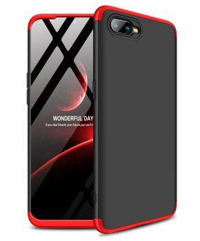 360 graden full body case voor de Oppo RX17 Neo - zwart / rood