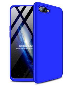 360 graden full body case voor de Oppo RX17 Neo - blauw
