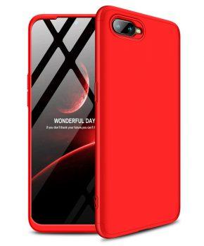360 graden full body case voor de Oppo RX17 Neo - rood
