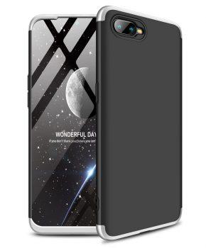 360 graden full body case voor de Oppo RX17 Neo - zwart / zilver