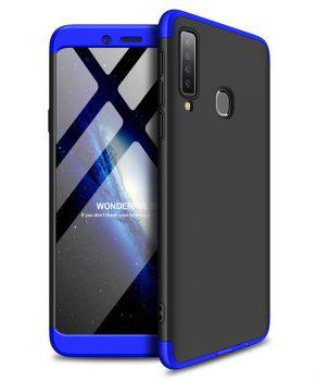 360 full body case voor Samsung Galaxy A9 2018 A920 - zwart / blauw