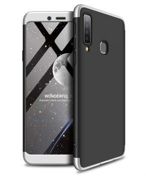 360 full body case voor Samsung Galaxy A9 2018 A920 - zwart / zilver
