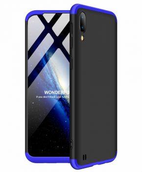 360 graden full body case voor de Samsung Galaxy M10 - zwart / blauw