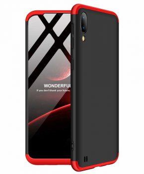 360 graden full body case voor de Samsung Galaxy M10 - zwart / rood