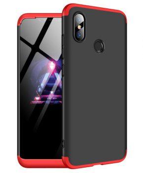 360 full body hoesje voor Xiaomi Mi 8 SE - zwart / rood