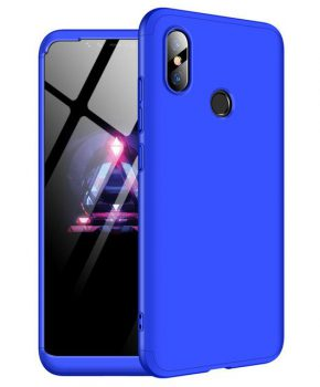 360 graden full body hoesje voor Xiaomi Mi 8 - blauw