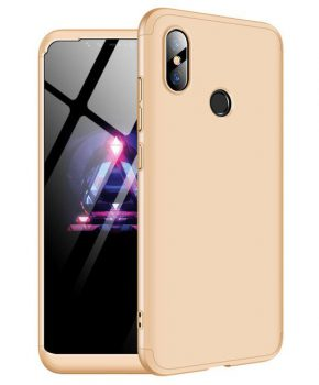 360 graden full body hoesje voor Xiaomi Mi 8 - goud
