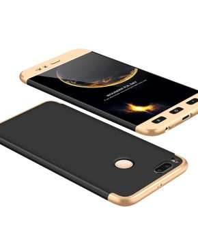 360 full body hoesje voor Xiaomi Mi A1 / Mi 5X zwart / goud