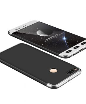 360 full body hoesje voor Xiaomi Mi A1 / Mi 5X - zwart / zilver