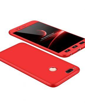 360 full body hoesje voor Xiaomi Mi A1 / Mi 5X - rood