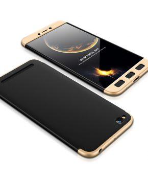 360 full body beschermend hoesje voor Xiaomi Redmi 5A – zwart / goud