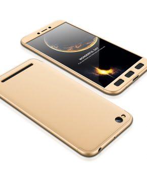 360 full body beschermend hoesje voor Xiaomi Redmi 5A – goud